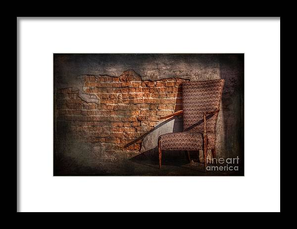 Chair Framed Print featuring the photograph Armed And Dangerous by The Stone Age