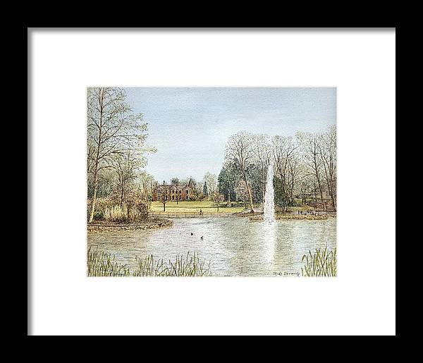 Park Framed Print featuring the painting Arnot Hill Park by Michael Dermody