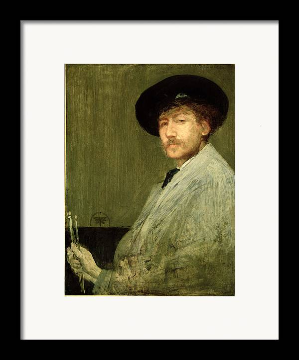 Dtr114682 Framed Print featuring the photograph Arrangement In Grey - Portrait Of The Painter by James Abbott McNeill Whistler