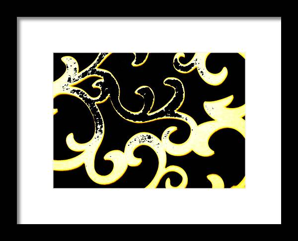 Black And White Framed Print featuring the photograph Art Deco Branchlets by Renate Nadi Wesley