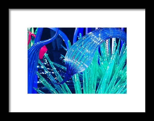 Art Glass Framed Print featuring the photograph Art Glass In Turquoise by Peggy Zachariou