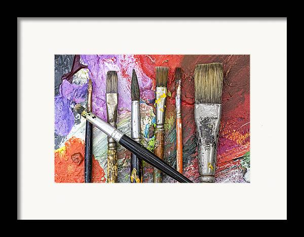 Art Framed Print featuring the photograph Art Is Messy 6 by Carol Leigh