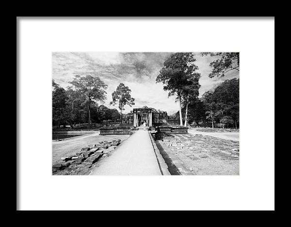 Ariksm-at Framed Print featuring the photograph Art Of Temple by Arik S Mintorogo