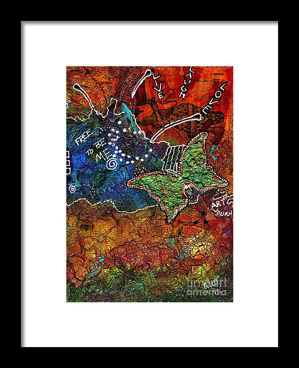 Journal Art Framed Print featuring the mixed media Art Therapy by Angela L Walker