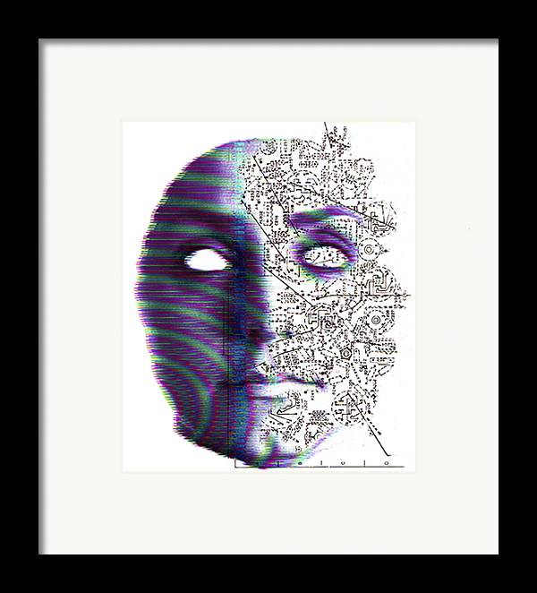 Head Framed Print featuring the photograph Artificial Intelligence by Neal Grundy