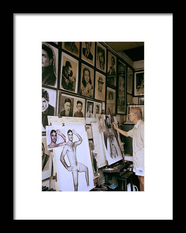 Asia Framed Print featuring the photograph Artist by Shaun Higson