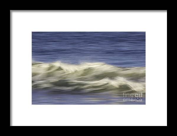 Massachusetts Framed Print featuring the photograph Artistic Wave by Betty Denise