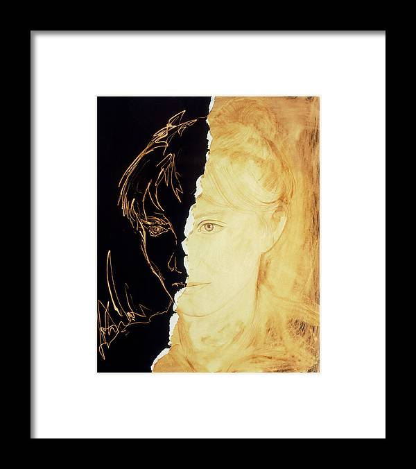 Schizophrenia Framed Print featuring the photograph Artist's Abstract Depiction Of Schizophrenia by David Gifford