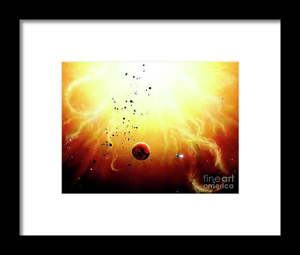 Artwork Framed Print featuring the digital art Artists Concept Of A Manned Expedition by Brian Christensen