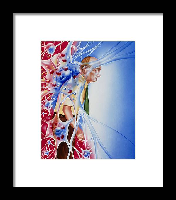 Parkinson's Disease Framed Print featuring the photograph Artwork Depicting Parkinson's Disease by John Bavosi