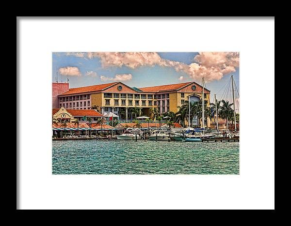 Travel Framed Print featuring the photograph Aruba Water Frin Postcard Effect by Linda Phelps