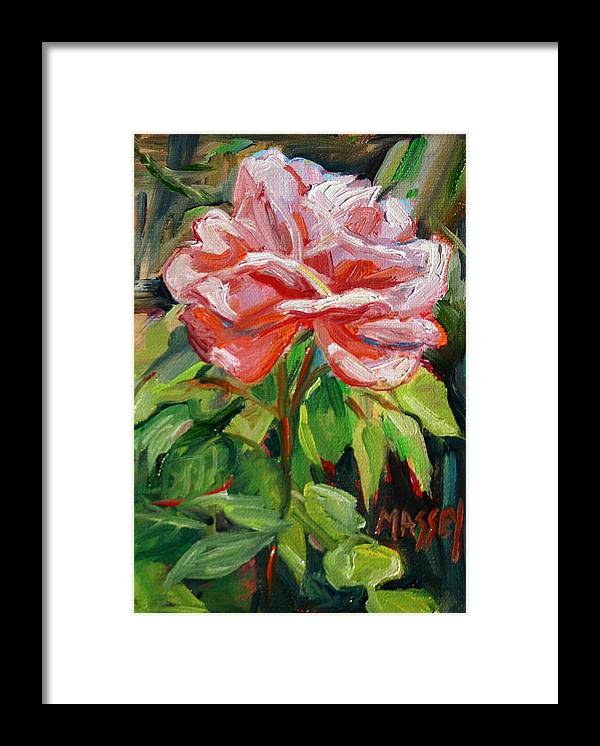 Rose Framed Print featuring the painting As Sweet by Marie Massey