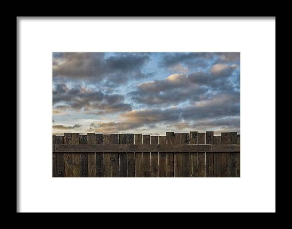 Fence Framed Print featuring the photograph As Time Goes By 5 by Rudy Van Acker
