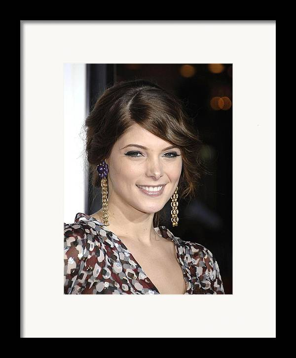 Premiere Of Sex Drive Framed Print featuring the photograph Ashley Greene At Arrivals For Premiere by Everett