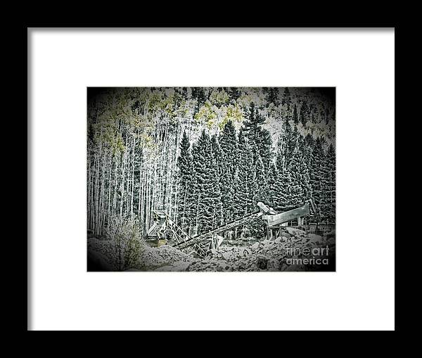 Aspen Tree Framed Print featuring the photograph Aspen Tractors by Christina Perry