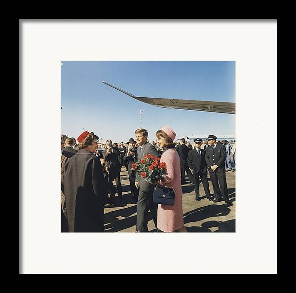 History Framed Print featuring the photograph Assassination Of President Kennedy by Everett