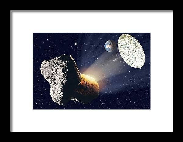 Asteroid Framed Print featuring the photograph Asteroid Deflection by Chris Butler