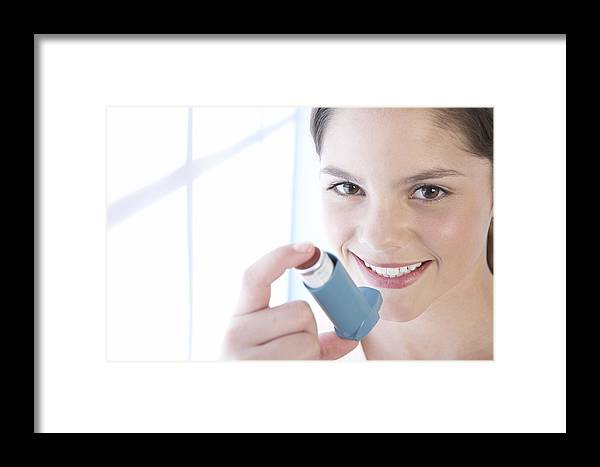Inhaler Framed Print featuring the photograph Asthma Inhaler by Adam Gault
