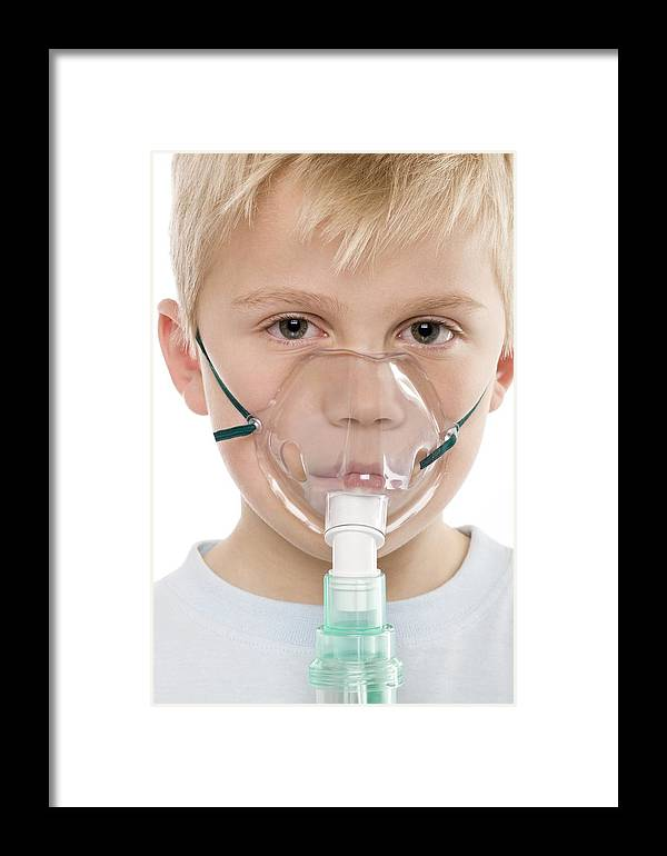 6-7 Years Framed Print featuring the photograph Asthma Treatment by