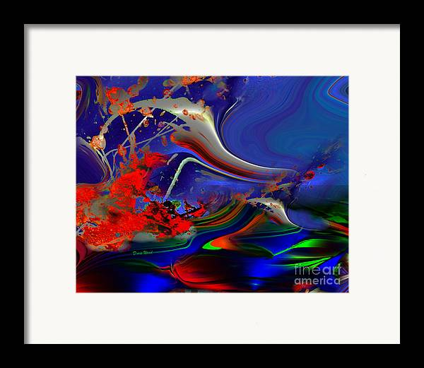 Ducks In Flight Framed Print featuring the digital art Astral Duck by Doris Wood