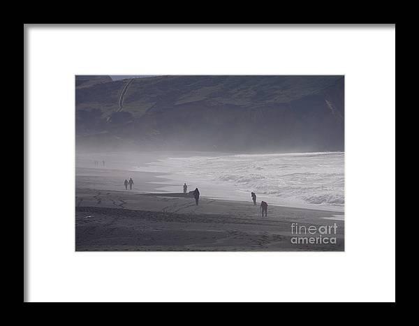 Beach Framed Print featuring the photograph At The Beach by Polly Villatuya