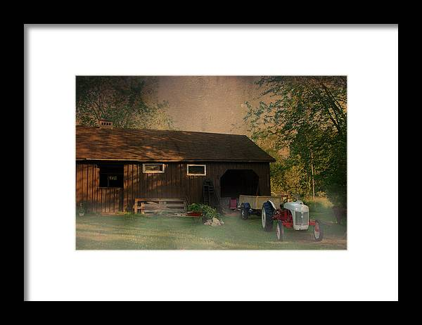 Farm Framed Print featuring the photograph At The Farm by Robin Webster