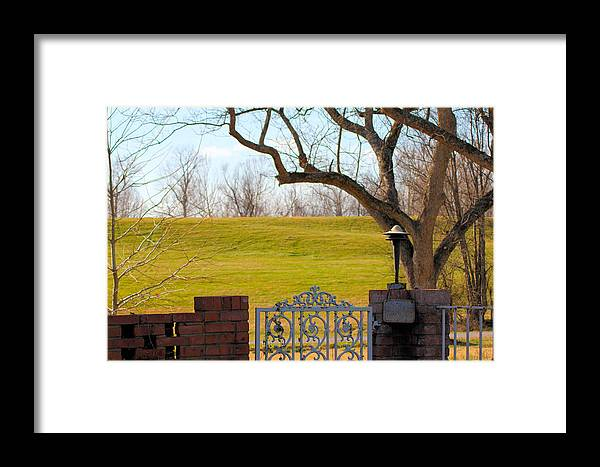 Levee Framed Print featuring the photograph At The Levee by Karen Wagner