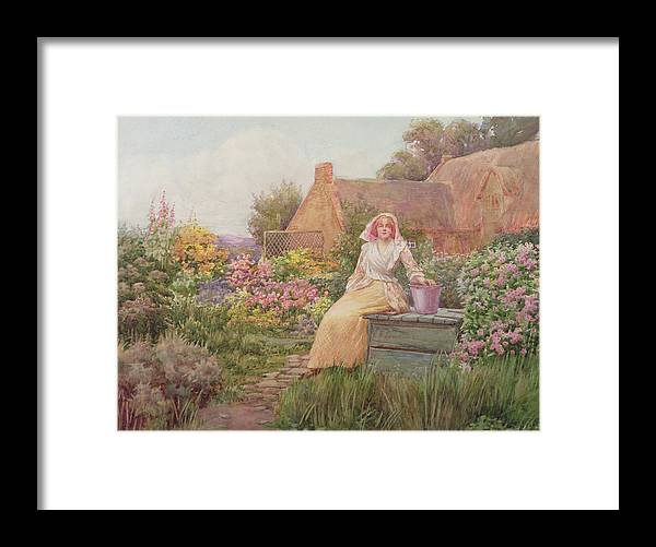 At The Well Framed Print featuring the painting At The Well by William Ashburner