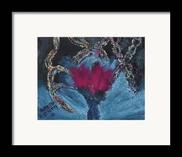 Women Framed Print featuring the painting Athea Seeks New Treatments by Annette McElhiney
