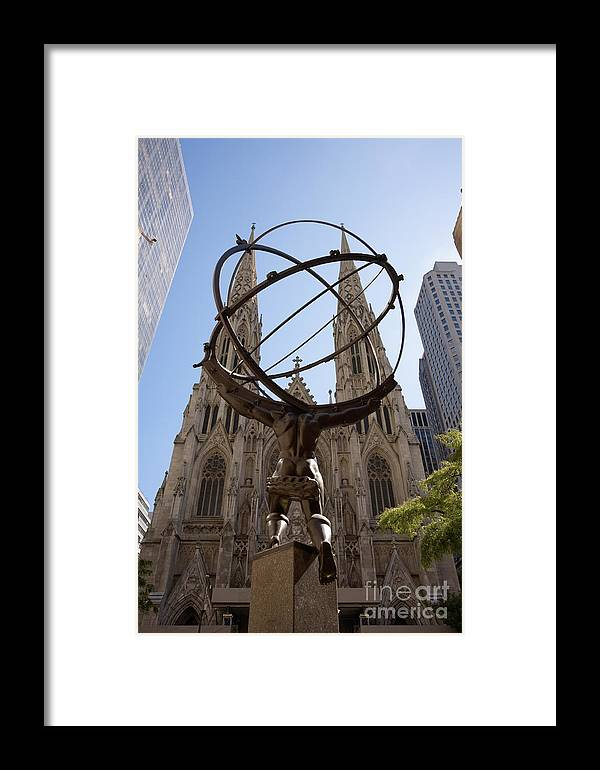 Architecture Framed Print featuring the photograph Atlas Nyc by Ei Katsumata