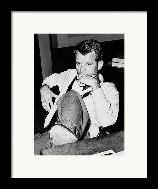 History Framed Print featuring the photograph Attorney General Robert F. Kennedy by Everett