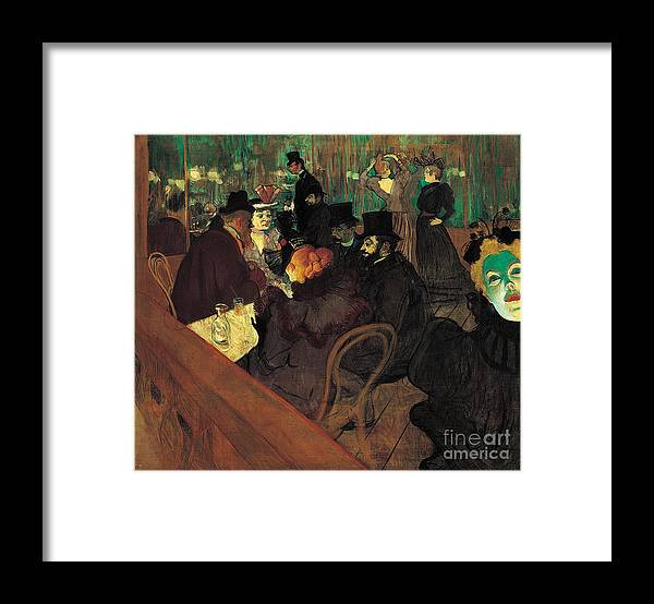 Pd Framed Print featuring the painting Au Moulin Rouge by Pg Reproductions