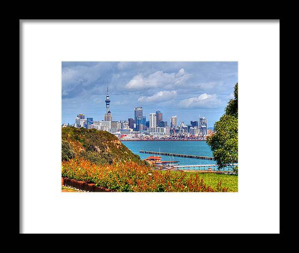 New Zealan Framed Print featuring the photograph Auckland by Lynette McNees