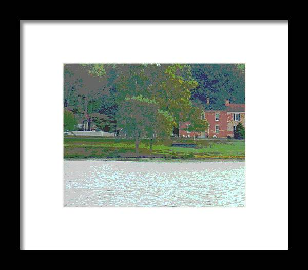 River Framed Print featuring the photograph Augusta River Front Row Houses by Jennifer Kelly