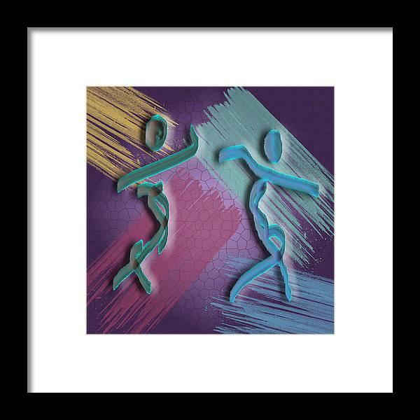 Spirit Framed Print featuring the digital art Auras Joined by Mark Weller