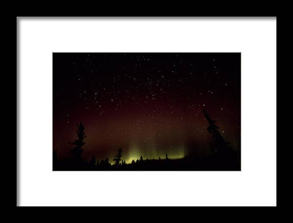 Nature Framed Print featuring the photograph Aurora Borealis by Alan Sirulnikoff