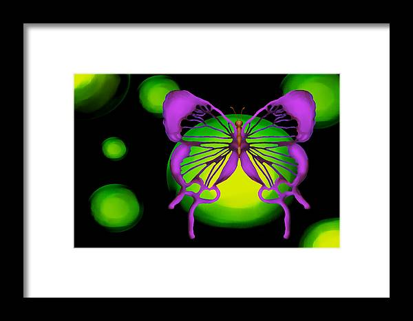 Butterfly Framed Print featuring the painting Auspicious by Christopher Acosta