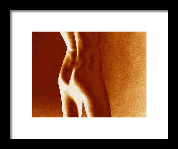 Fine Art Nude Framed Print featuring the photograph Aussi Glow 2 by Stuart Brown