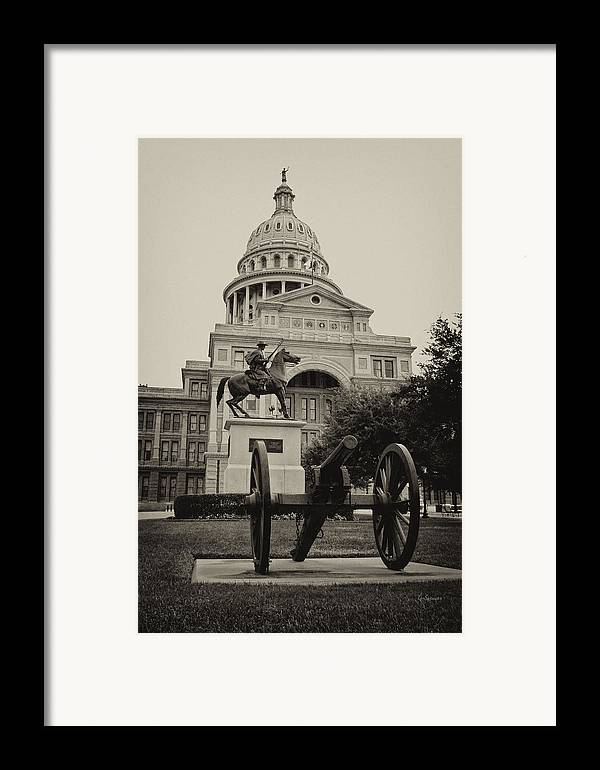 Capitol Of Austin Framed Print featuring the photograph Austin Capitol by Lisa Spencer