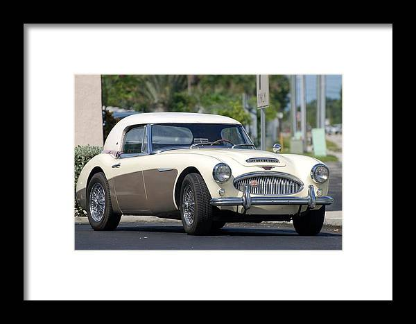 1960 Framed Print featuring the photograph Austin Healey by Rob Hans