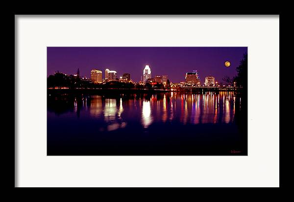 Cities Framed Print featuring the photograph Austin Sky Line In December 2004 by Lisa Spencer