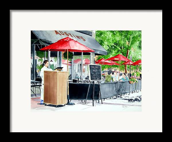 Fort Collins Framed Print featuring the painting Austin's by Tom Riggs