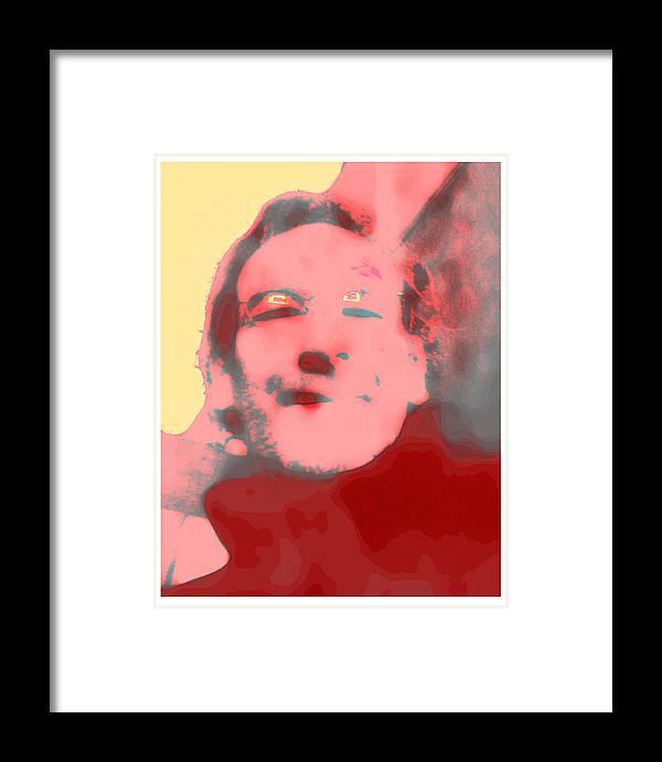 Autoportrait Framed Print featuring the digital art Autoportrait - 2011 by Peter Szabo