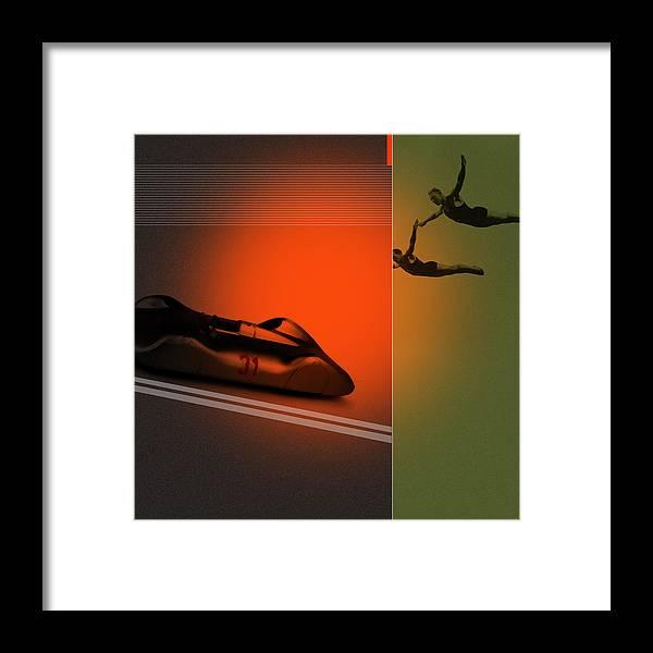 Silver Framed Print featuring the digital art Autounion by Naxart Studio