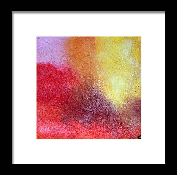 Red Yellow Orange Autumn Framed Print featuring the painting Verano 8 by Jorge Berlato