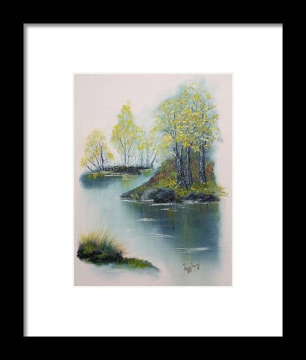 Landscape Framed Print featuring the painting Autumn Afternoon by Peggy King