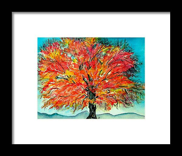 Watercolor Framed Print featuring the painting Autumn Beauty by Brenda Owen