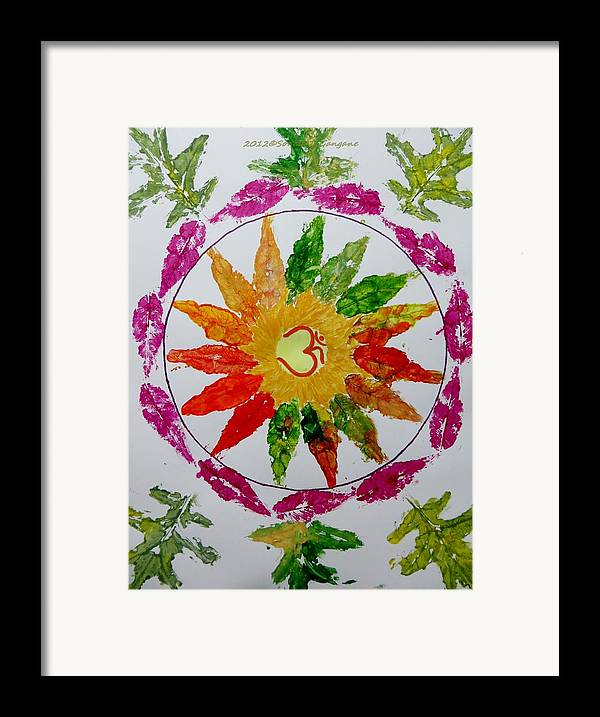 Radial Balance Framed Print featuring the painting Autumn Chakra by Sonali Gangane