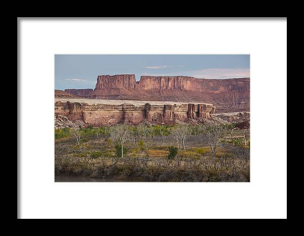 Arid Framed Print featuring the photograph Autumn Colors On The Green River by Tim Grams