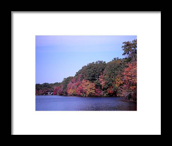 Lake Framed Print featuring the photograph Autumn Colors On The Lake by Kate Gallagher